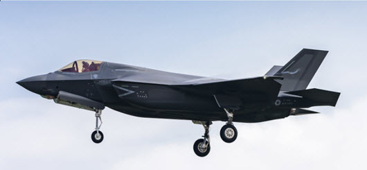 The 3rd F-35B (bu.no. BL-3) during its maiden flight